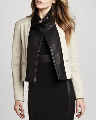 Theory Velea Leather-Panel Jacket