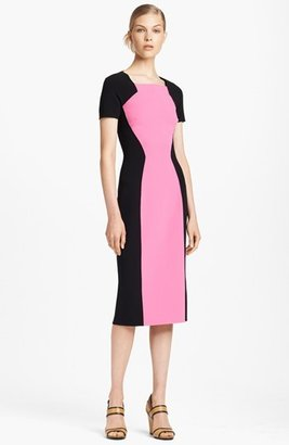 Michael Kors Double Face Colorblock Wool Dress