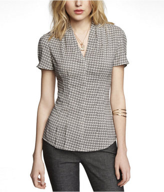 Express Printed Pleated Shirt