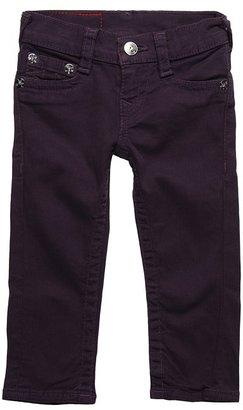True Religion Girls' Casey Super Skinny (Toddler/Little Kids/Big Kids) (Eggplant) - Apparel