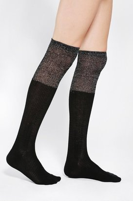 Urban Outfitters Metallic Slouch-Cuff Over-The-Knee Sock