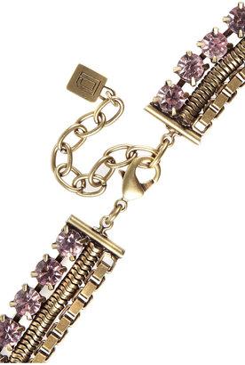 Dannijo Briana oxidized-brass and crystal necklace