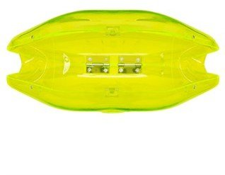 Lulu Guinness Neon Yellow Perspex Lips Clutch