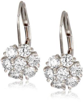 """KC Designs Metro"""" 14k White Gold and Diamond Cluster Earrings"""