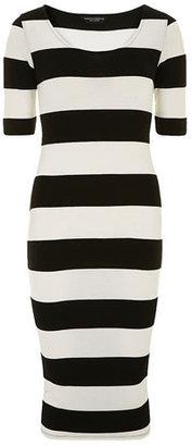 Dorothy Perkins Ivory black tube dress