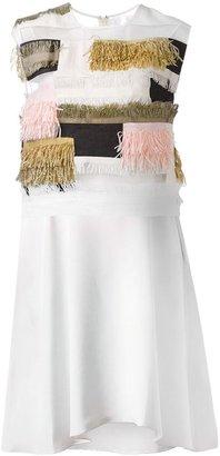3.1 Phillip Lim raffia patchwork dress