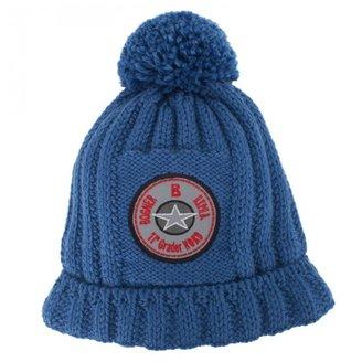 Bogner Blue Branded Knit Hat