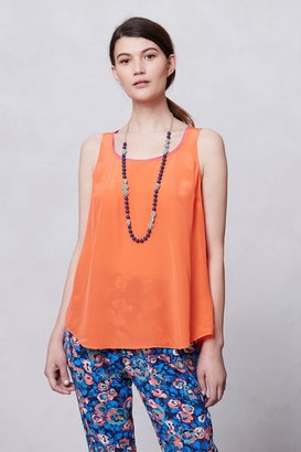 Anthropologie Piped Silk Tank