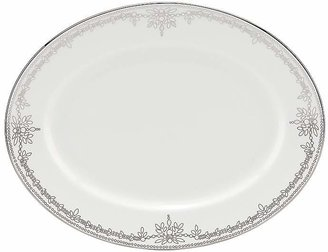 """Marchesa by Lenox Empire Pearl 13"""" Oval Platter"""