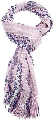Missoni zigzag fringed scarf