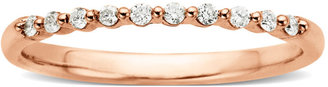 Lord & Taylor Diamond-Accented Ring in 14 Kt. Rose Gold