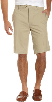 Nat Nast Flat-Front Silk-Blend Shorts, Clay
