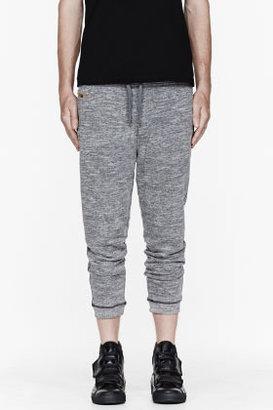 Diesel Heather grey Pisau cropped lounge pants