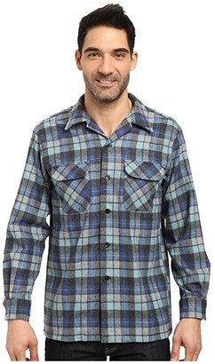 Pendleton L/S Board Shirt (Blue Beach Boys Plaid) Men's Long Sleeve Button Up