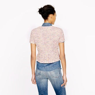 J.Crew Collection peplum jacket in Ratti candy tweed