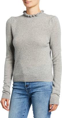 Frame Josefine Ruffle-Neck Sweater