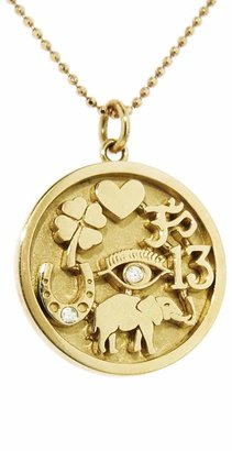 Jennifer Meyer Good Luck Charm Necklace - Yellow Gold