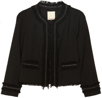 Rebecca Taylor Anywhere embellished woven jacket