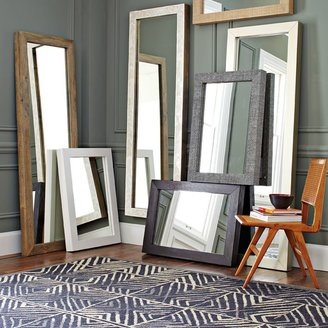 west elm Parsons Floor Mirror - Natural Solid Wood