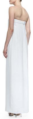 Cushnie et Ochs Strapless Center-Slit Maxi Dress