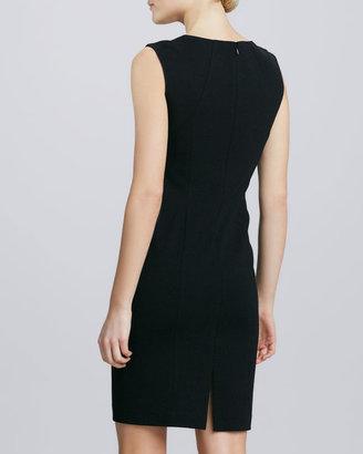 Lafayette 148 New York Lace-Front Sheath Dress