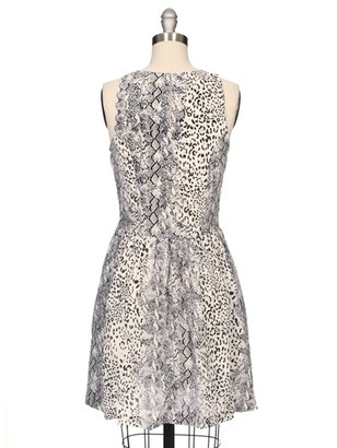 Joie Bernadine Snake Print Silk Dress