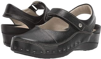 Wolky Strap Cloggy (Black) Women's Clog Shoes