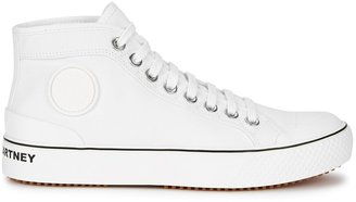 Stella McCartney White Canvas Hi-top Sneakers