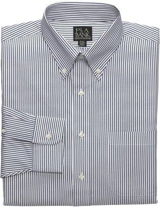 Oxford Pinpoint Buttondown Collar Striped Dress Shirt