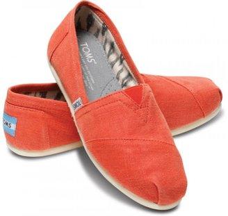 Toms Earthwise orange women's classics