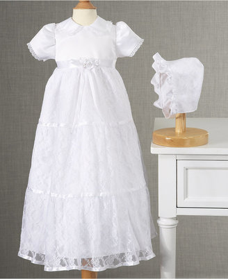 Lauren Madison Baby Dress, Baby Girls Lace Tiered Christening Dress $58 thestylecure.com