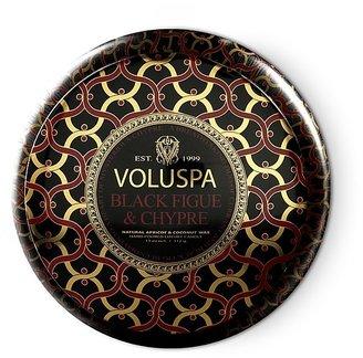 "Voluspa Maison Noir ""Black Figue & Chypre"" 2 Wick Printed Tin Candle"