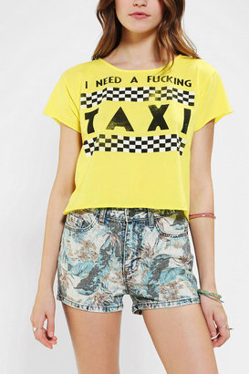 Urban Outfitters LIFE I Need A Taxi Cropped Tee
