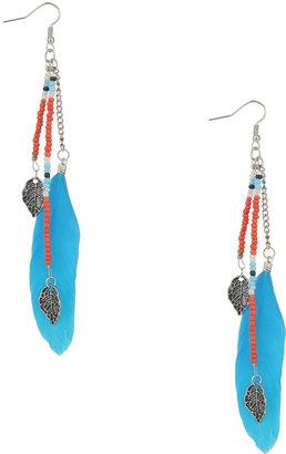Forever 21 Beaded Feather Earrings