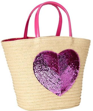 Gap Sequin straw tote