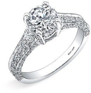 Nordstrom Bony Levy Pavé Diamond Encrusted Engagement Ring Setting Exclusive)
