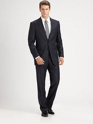 Armani Collezioni Thin Striped Giorgio Model Suit