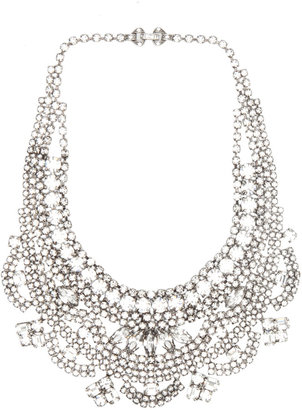 Tom Binns Madame Dumont Crystal Necklace in White