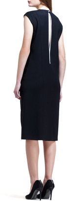 Helmut Lang Combo Keyhole-Back Dress