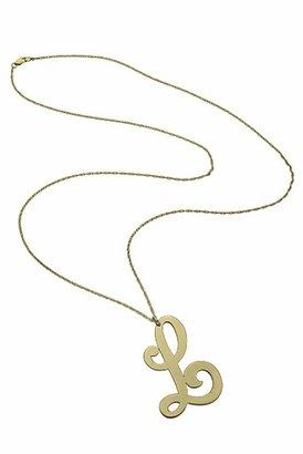 "Jennifer Zeuner Jewelry XGL Cursive ""A"" Necklace in Gold"