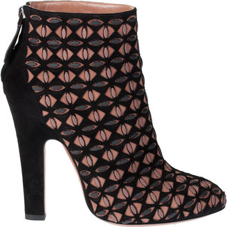 Alaia Studded suede leather ankle boot