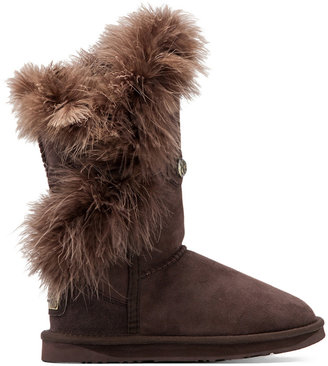 Australia Luxe Collective Nordic Feather Short Boot with Sheep Shearling