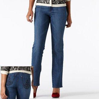 Gloria Vanderbilt caitlyn straight-leg jeans