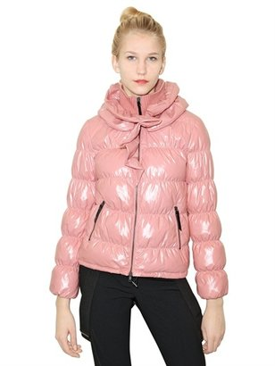 Moschino Cheap & Chic Ruffled Quilted Nylon Down Jacket
