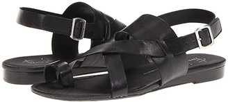 Franco Sarto Gia by SARTO (Black Leather) Women's Sandals