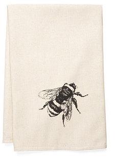 Bee Tea Towel, Black