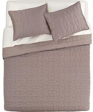 Crate & Barrel Anujah Mink Bed Linens