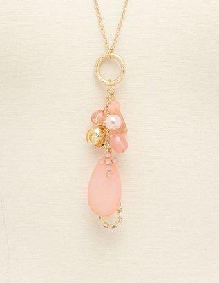 Charlotte Russe Teardrop Cluster Long Necklace