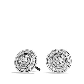 David Yurman Cerise Mini Earrings with Diamonds