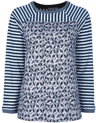 Marni striped and printed top
